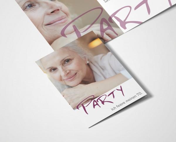 Einladungskarten 70. Geburtstag Party
