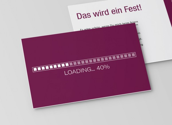 Einladungskarte Loading
