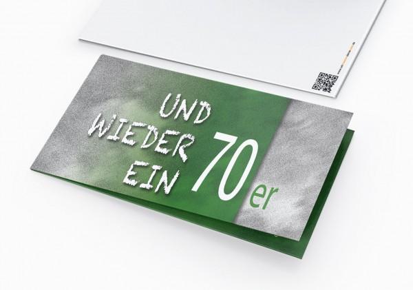 Geburtstag Einladungskarten - 70. Geburtstag und wieder ein 70er Grün