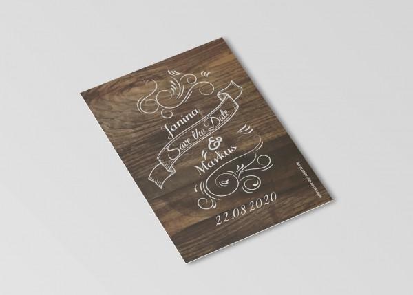 Save the Date Karten Einladung Hochzeit - Hochzeit Gaudi