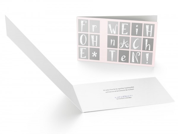 Weihnachtskarte edle Buchstaben