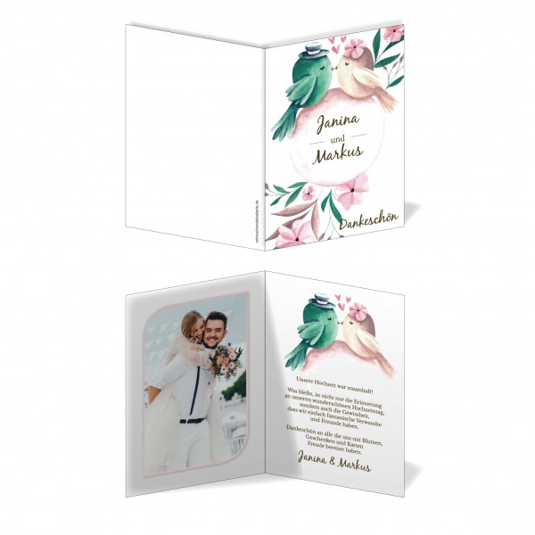 Dankeskarten Danke Hochzeit - Tweet