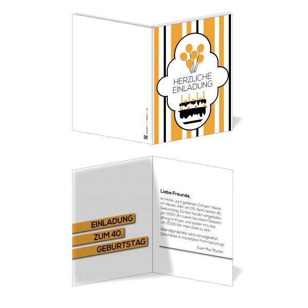 Einladung Einladungskarte Geburtstag 70er Jahre (3)