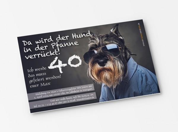 Geburtstag Einladungskarten - 40. Geburtstag Schnauzer