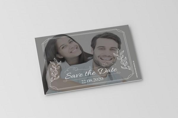 Save the Date Karten Einladung Hochzeit - Großes Bild