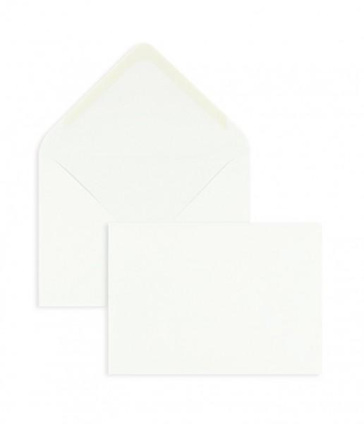 DIN A6 Briefumschläge Nassklebend - weiss