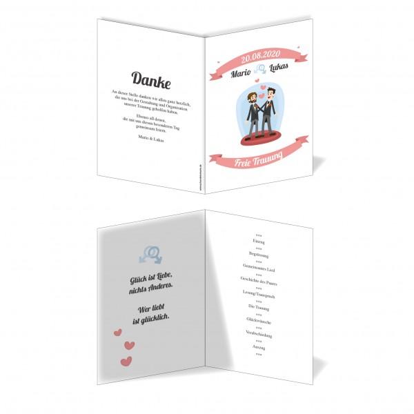 Kirchenprogramm Hochzeit - Mann & Mann