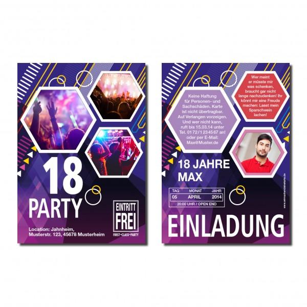 Einladung Einladungskarte 18. Geburtstag Party