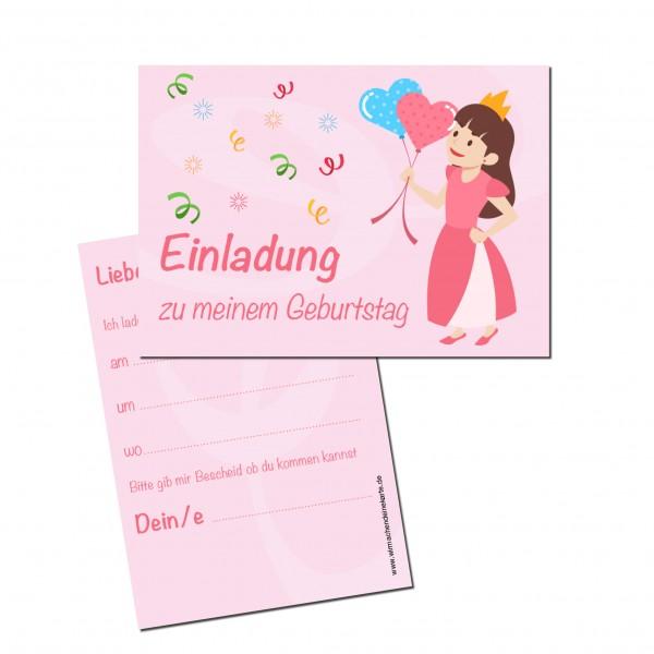 Einladung Einladungskarte Kindergeburtstag Prinzessin
