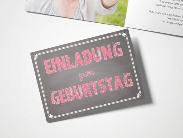 Einladungskarten 50. Geburtstag Schild