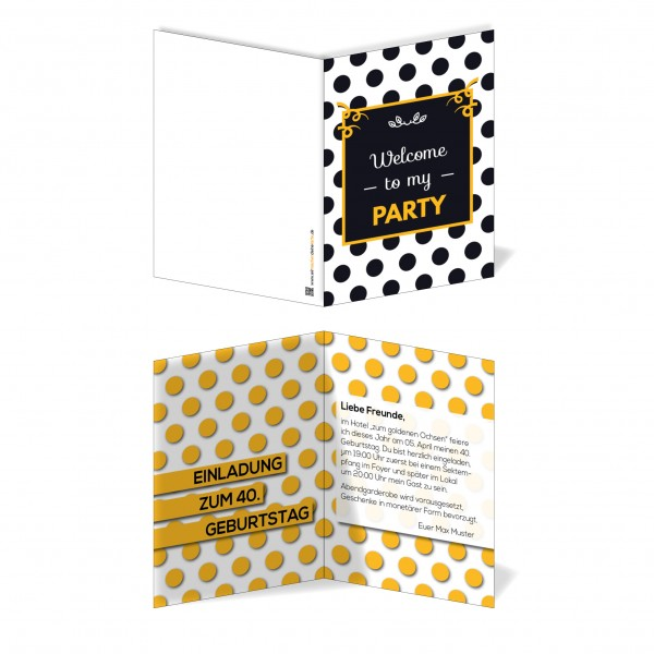 Einladung Einladungskarte Geburtstag Pünktchentraum