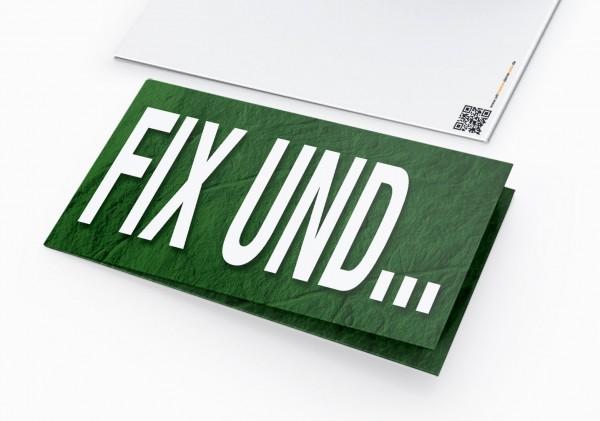 Geburtstag Einladungskarten - 50. Geburtstag Fix und Fünfzig Grün