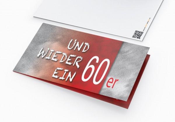 Geburtstag Einladungskarten - 60. Geburtstag und wieder ein 60er Rot