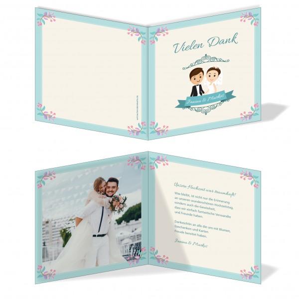Dankeskarten Danke Hochzeit - Großer Tag