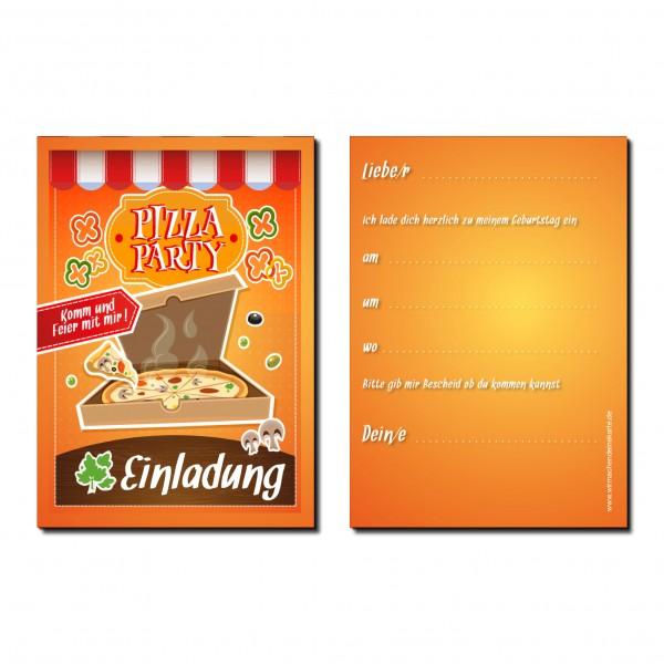 Einladung Einladungskarte Kindergeburtstag Pizza Party