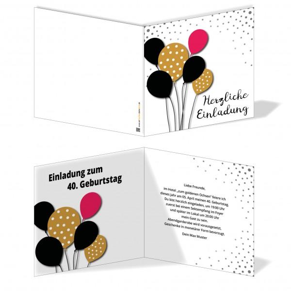 Einladung Einladungskarte Geburtstag Ballonspaß