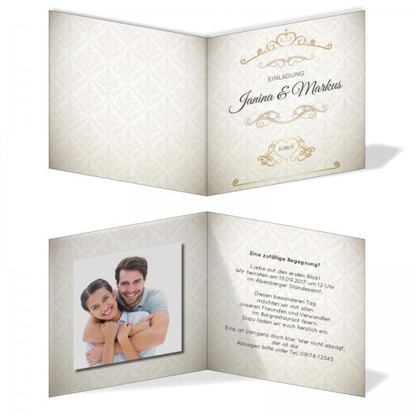 Einladungskarten Hochzeit Hochzeitskarten mit Druck - Ornament