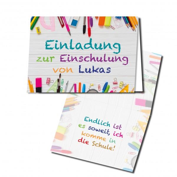 Einladungskarten Einschulung erster 1. Schultag Einschulungskarten - STIFTE