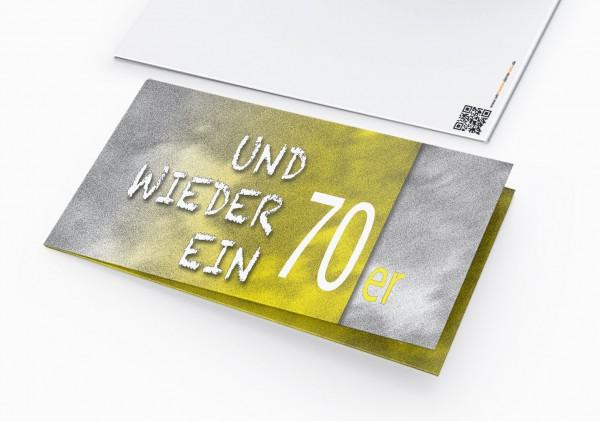 Geburtstag Einladungskarten - 70. Geburtstag und wieder ein 70er Gelb