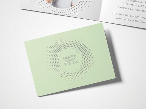 Einladungskarten 60. Geburtstag Kreisrund