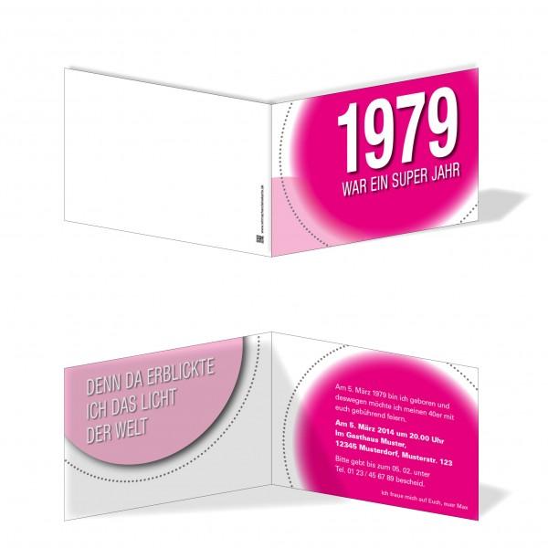 Geburtstag Einladungskarten - 40. Geburtstag Super Jahr Pink