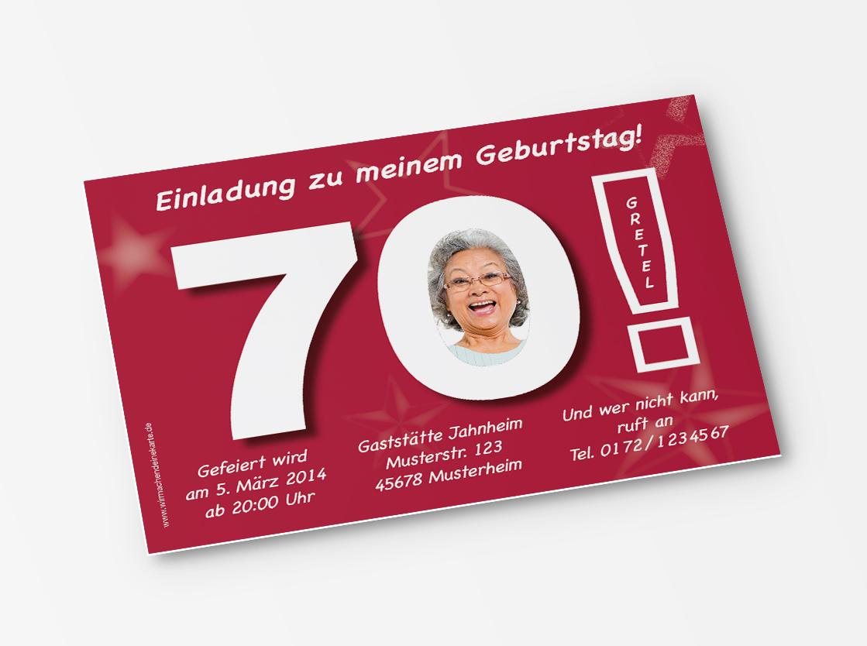 einladungskarten geburtstag 70