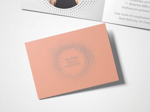 Einladungskarten 30. Geburtstag Kreisrund rot