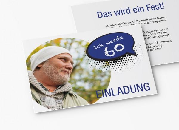 Einladungskarten 60. Geburtstag Sprechblase