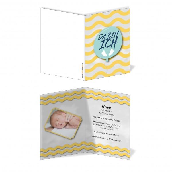 Geburtskarten Babykarten individuell - Mädchen Baby Füße