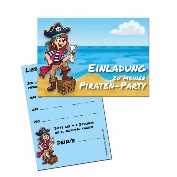 Einladung Einladungskarte Kindergeburtstag Pirat