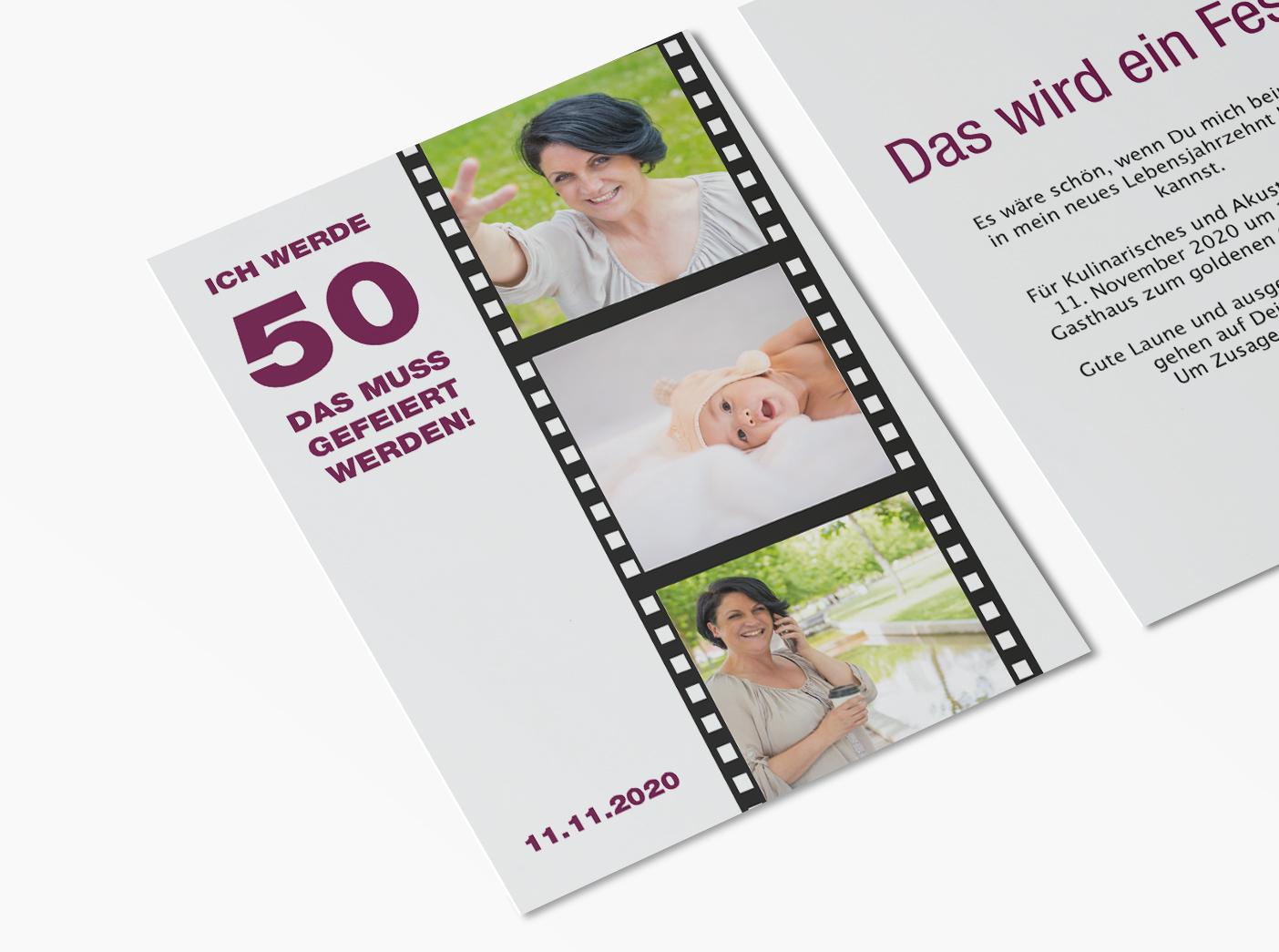 einladungskarten 50