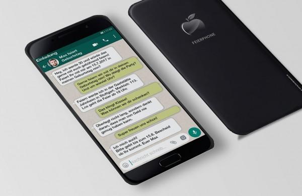 Smartphone Einladung Einladungskarte lustig Geburtstag Whatsapp