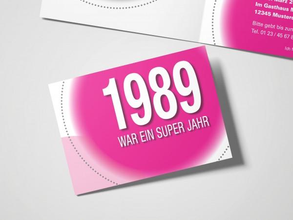 Geburtstag Einladungskarten - 30. Geburtstag Super Jahr Pink