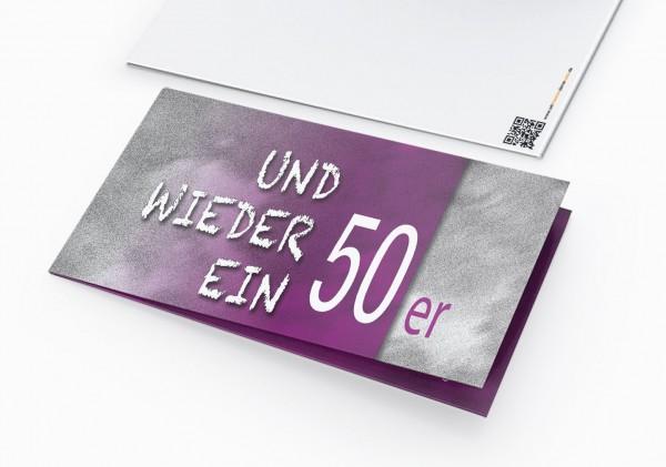Geburtstag Einladungskarten - 50. Geburtstag und wieder ein 50er Lila