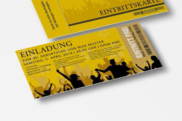 Eintrittskarte Einladung Einladungskarte lustig Geburtstag 5