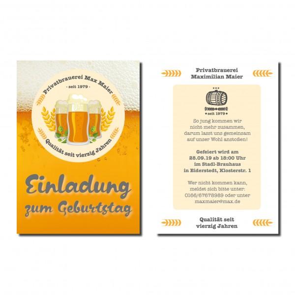 Bier Wappen Einladung Einladungskarte Geburtstag Bayrisch