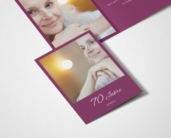 Einladungskarten 70. Geburtstag Klassik