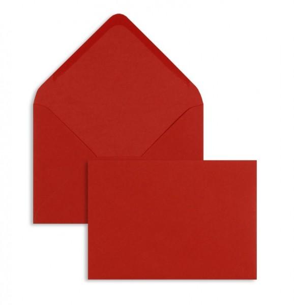 DIN A6 Briefumschläge Nassklebend - rot