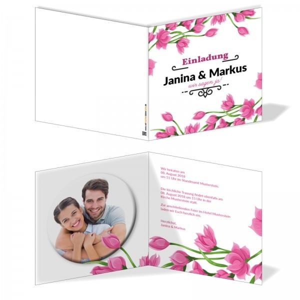 Einladungskarten Hochzeit Hochzeitskarten mit Druck - Tulipan