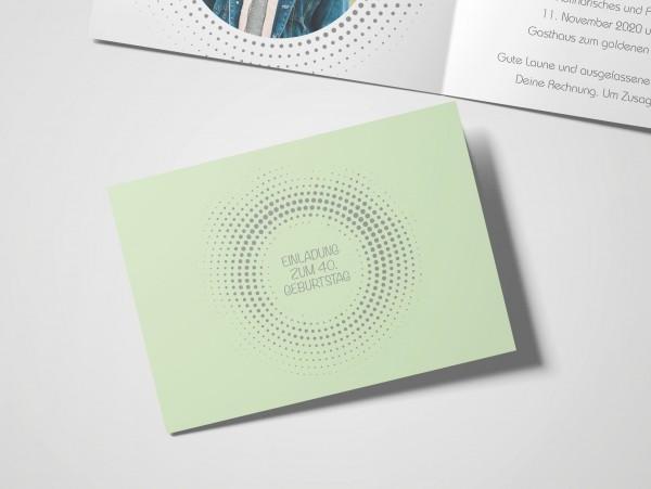 Einladungskarte Kreisrund