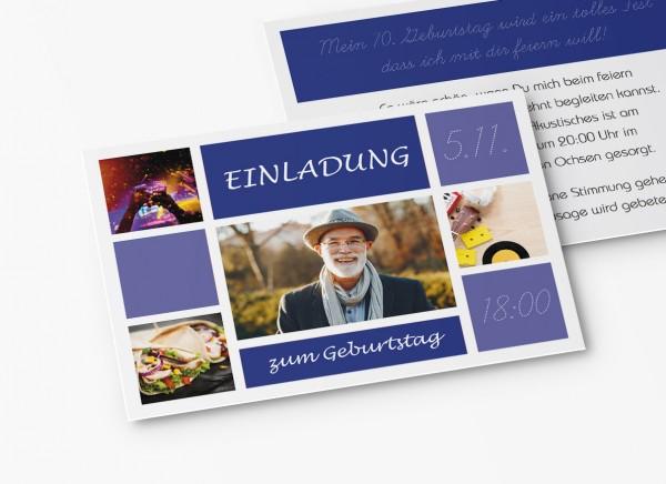 Einladungskarten 70. Geburtstag Kacheln