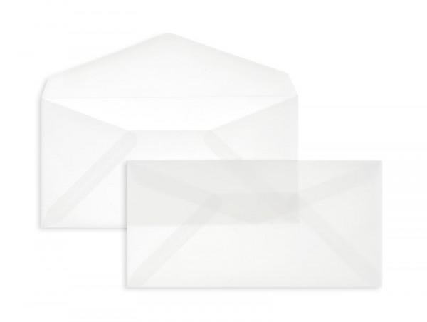 DIN Lang Briefumschläge Nassklebend - transparent