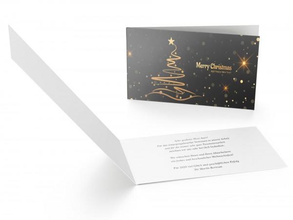 Weihnachtskarte Goldener Tannenbaum