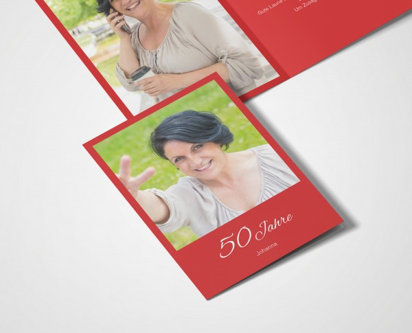 Einladungskarten 50. Geburtstag Klassik
