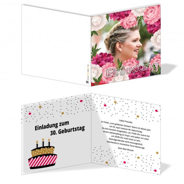 Einladung Einladungskarte Geburtstag Blumentraum
