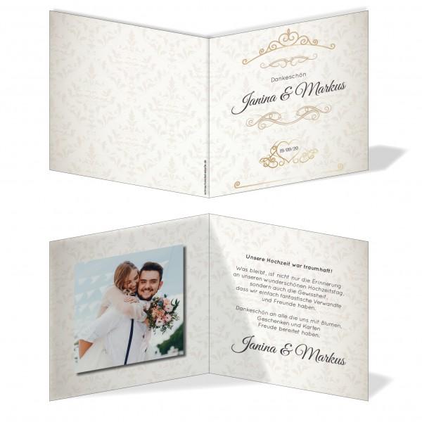 Dankeskarten Danke Hochzeit - Ornament
