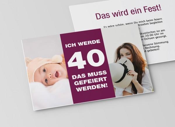 Einladungskarte vom Baby bis Heute