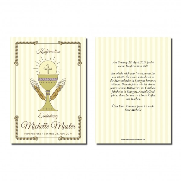 Einladung Einladungskarte Konfirmation Classic