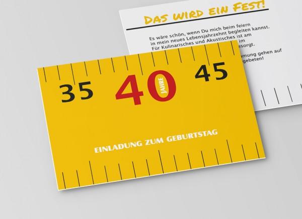Einladungskarte Meterstab