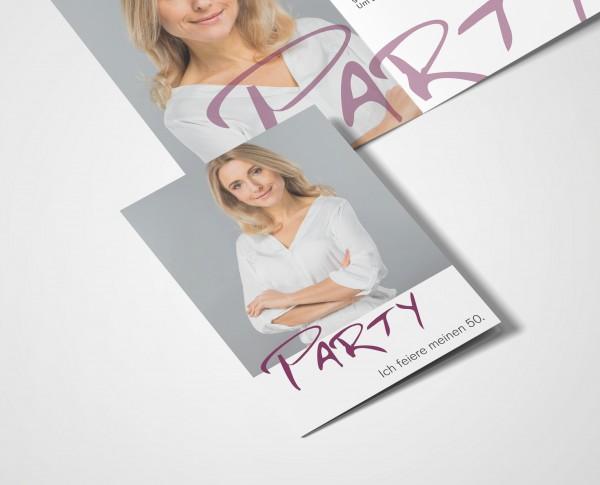 Einladungskarten 50. Geburtstag Party